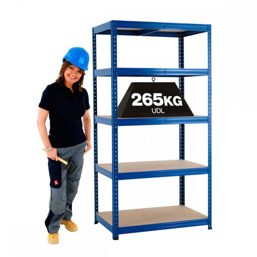 Picture of Garage 5 Tier Metal Shelving Units