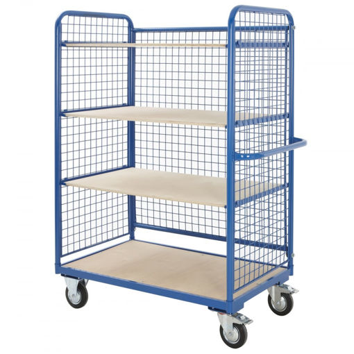 Picture of Heavy Duty Mesh Sided Platform Shelf Trolley