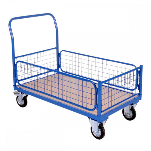 Picture of Heavy Duty Mesh Basket Platform Trolley