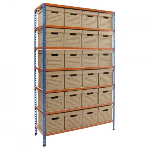 Picture of Speedy 2 Archive Shelving With Value Archive Boxes