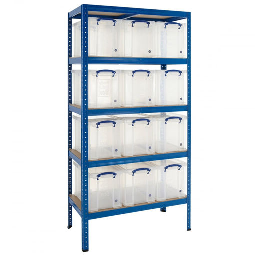 Picture of Value Shelving With 24 Litre Capacity Really Useful Boxes