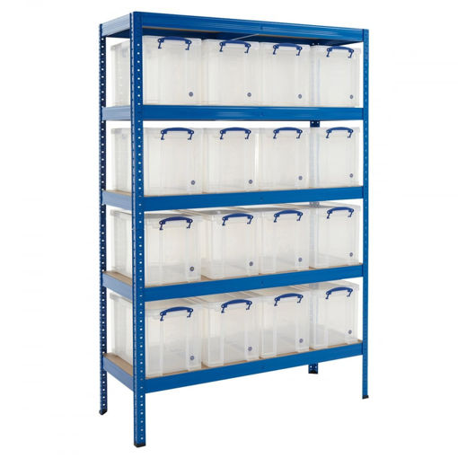 Picture of Value Medium Duty Shelving With 24 Litre Capacity Really Useful Boxes