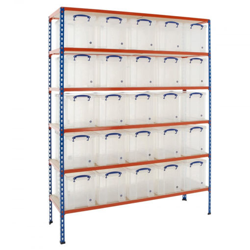 Picture of Speedy 2 Shelving With 24 Litre Capacity Really Useful Boxes