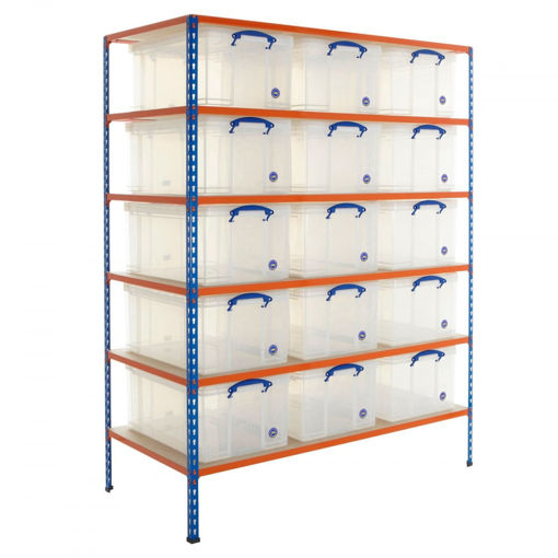 Picture of Speedy 2 Shelving With 64 Litre Capacity Really Useful Boxes