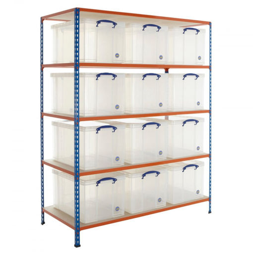 Picture of Speedy 2 Shelving With 84 Litre Capacity Really Useful Boxes