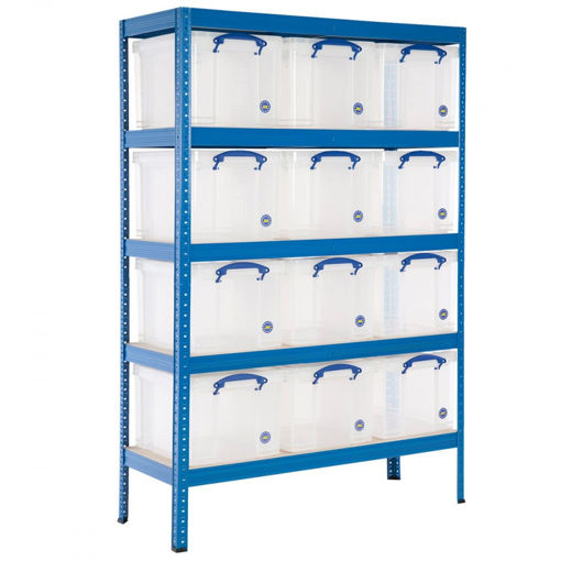 Picture of Value Medium Duty Shelving With 35 Litre Capacity Really Useful Boxes