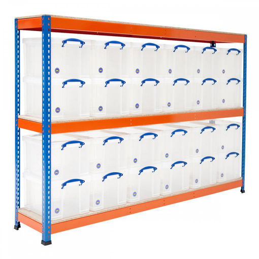 Picture of Speedy 1 Shelving With 35 Litre Capacity Really Useful Boxes