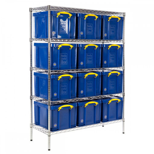 Picture of Chrome Wire Shelving With 35 Litre Capacity Really Useful Boxes