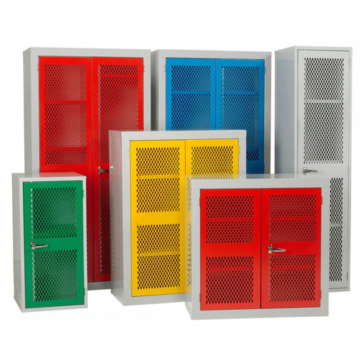 Picture of Mesh Door Storage Cabinets