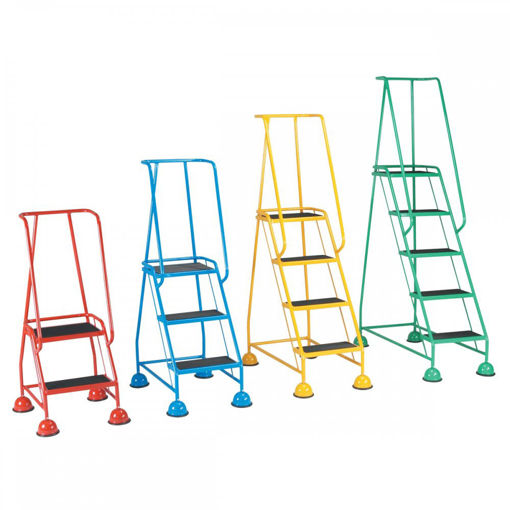 Picture of Mobile Safety Steps With Ribbed Rubber Treads