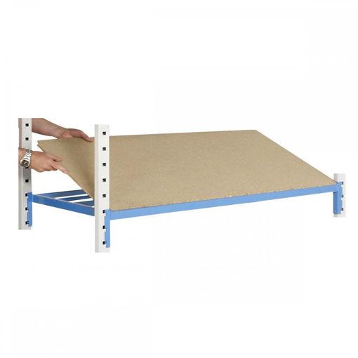 Picture of Heavy Duty Tubular Shelving Pack Of 4 Hardboard Shelf Covers