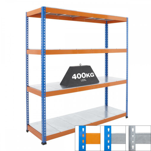 Picture of Speedy 1 Heavy Duty Shelving 4 Level Galvanised Steel Shelves