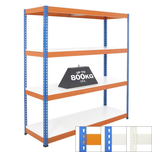 Picture of Speedy 1 Super Heavy Duty Shelving 4 Level Melamine