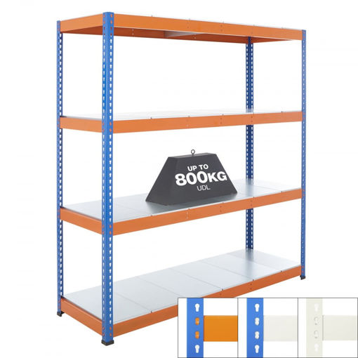 Picture of Speedy 1 Super Heavy Duty Shelving 4 Level Galvanised Steel Shelves
