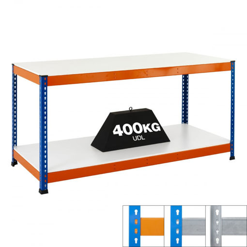 Picture of Speedy 1 Heavy Duty Workbenches 2 Level Melamine
