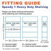 Picture of Speedy 1 Heavy Duty Workbenches 2 Level Melamine