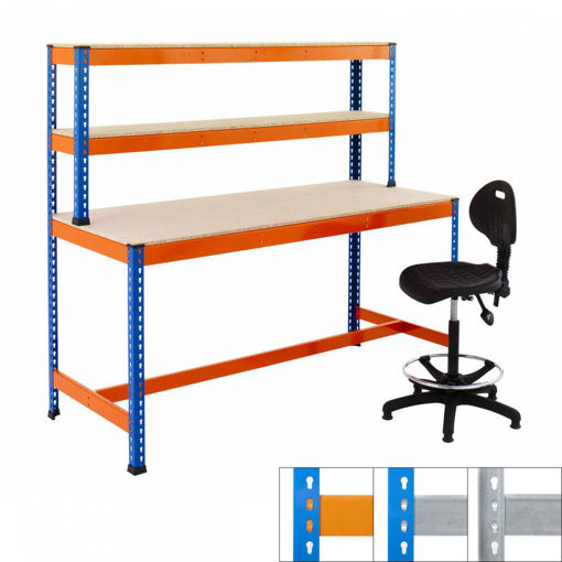 Picture of Speedy 1 Heavy Duty T-Bar Workstations 3 Level