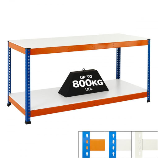 Picture of Speedy 1 Super Heavy Duty Workbenches 2 Level Melamine