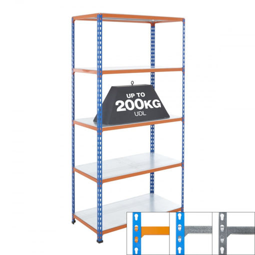 Picture of Speedy5 Garage 5 Tier Galvanised Steel Shelving Units