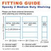 Picture of Speedy 2 Medium Duty Shelving 6 Level Melamine