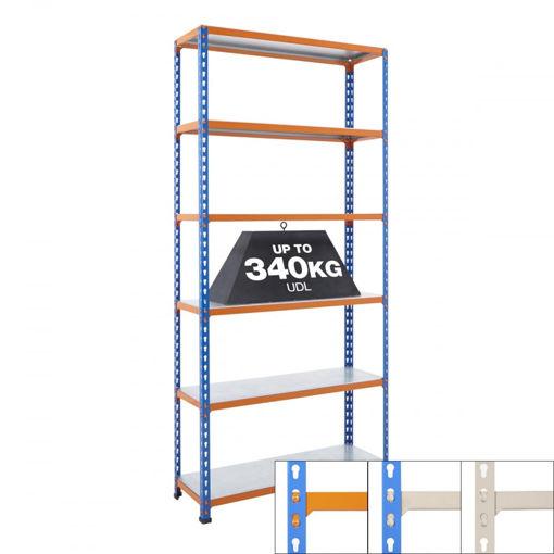 Picture of Speedy 2 Medium Duty Shelving 6 Level Galvanised Steel Shelves