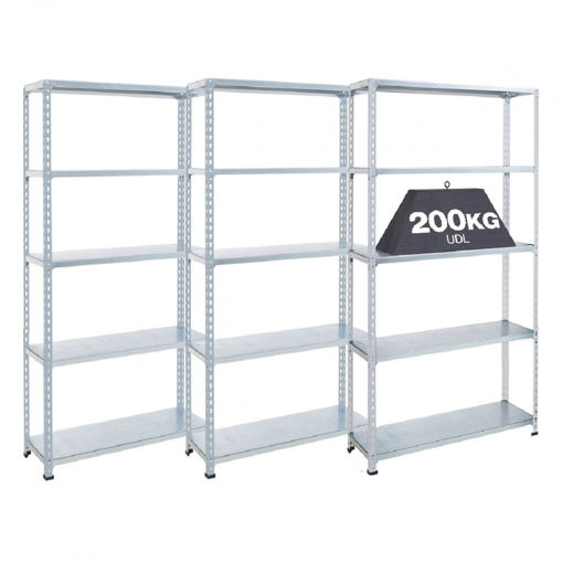 Picture of Super Saver - 3X Garage 5 Tier Galvanised Steel Shelving Units