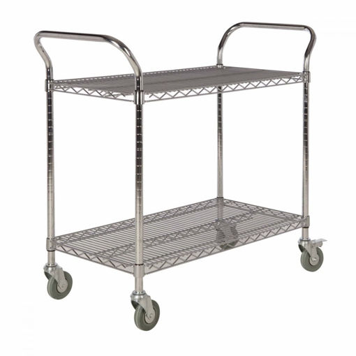 Picture of Chrome Wire Shelf Trolleys