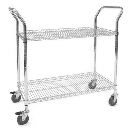 Picture of Chrome Wire Shelf Trolleys With Lipped Shelves