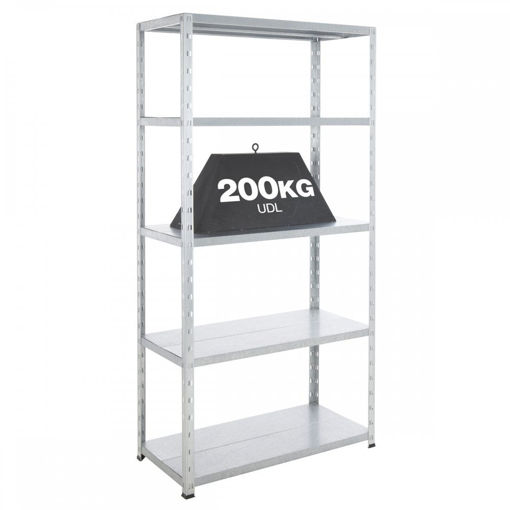 Picture of Value Garage 5 Tier Galvanised Steel Shelving Unit