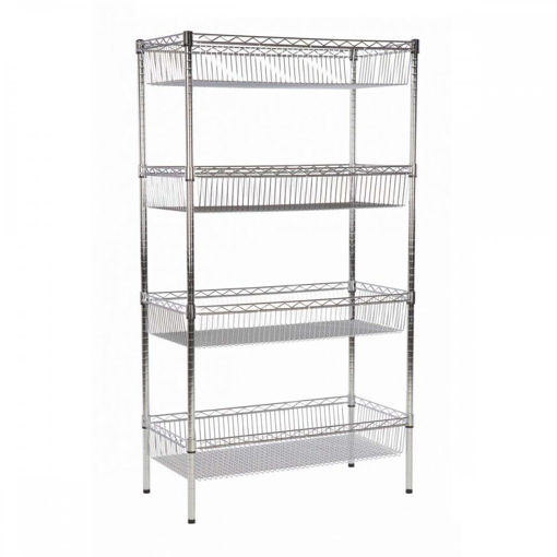 Picture of Chrome Wire Basket Shelving