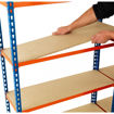 Picture of Speedy4 Garage 4 Tier Melamine Shelving Units