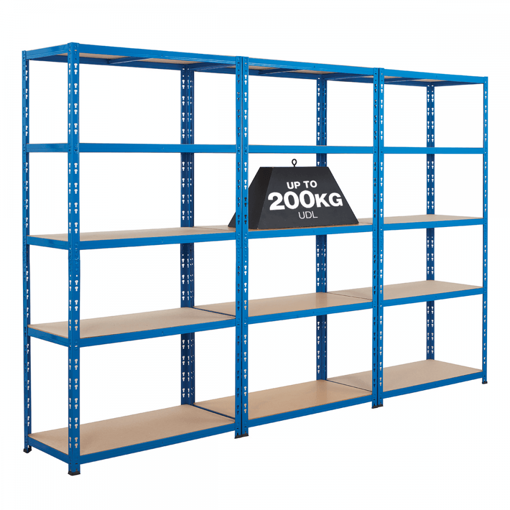 Picture of Super Saver - 3X Garage Shelving Units With Free Assembly Mallet