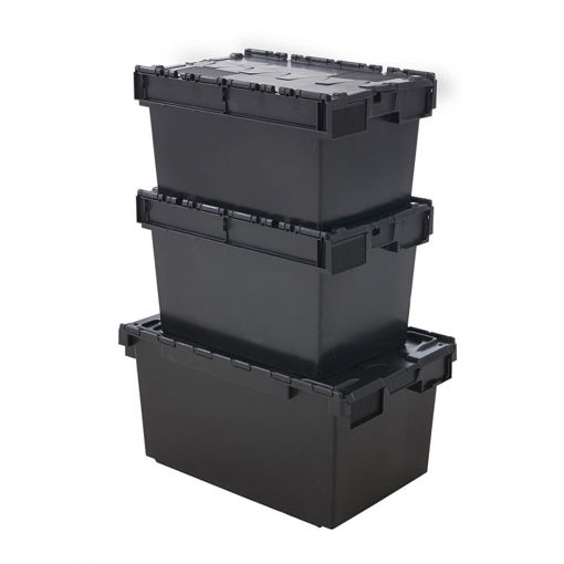 Picture of Recycled Plastic Containers With Attached Lid