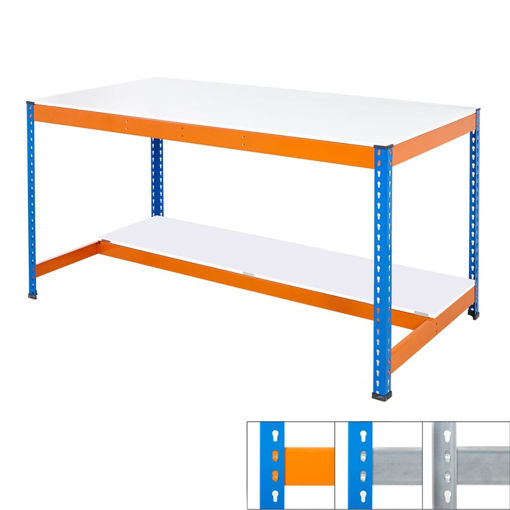 Picture of Speedy 1 Half Shelf Melamine Workbench