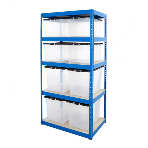 Picture of Value Box Storage Kit With 4X 50 Litre Boxes & 4X 75 Litre Boxes