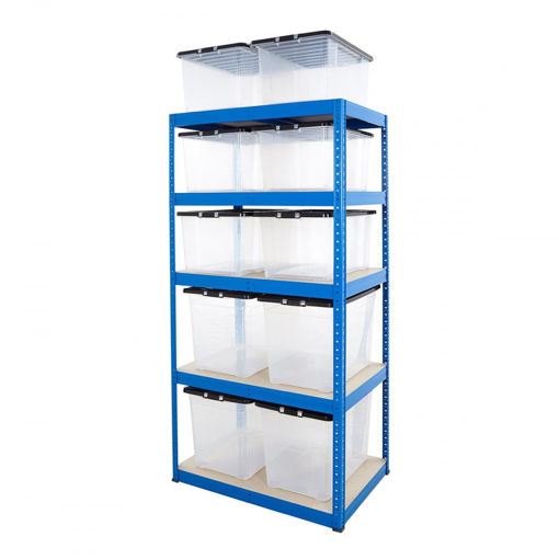 Picture of Value Box Storage Kit With 6X 50 Litre Boxes & 4X 75 Litre Boxes