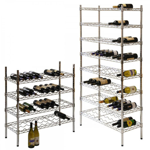 Picture of Contemporary Chrome Wine Storage Racks