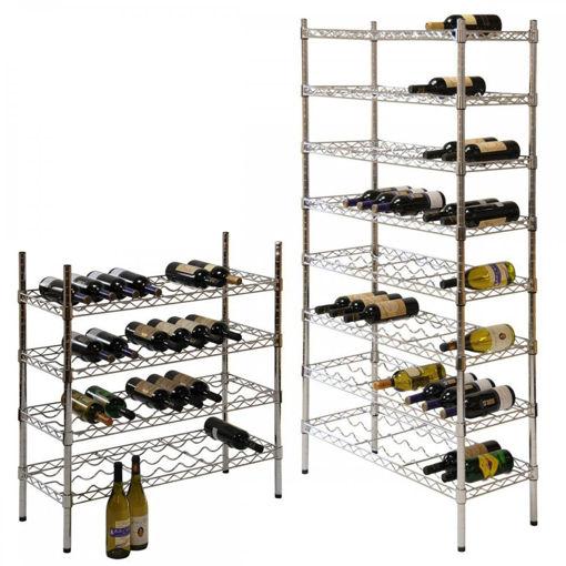 Picture of Contemporary Chrome Wine Storage Racks